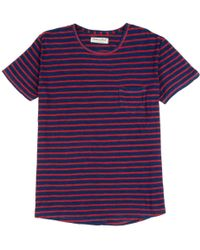 The West Is Dead Red & Indigo Stripe Pocket Tee red - Lyst