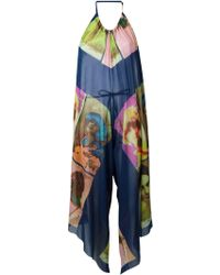 Jean Paul Gaultier Portrait Print Sheer Jumpsuit - Lyst
