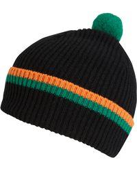 Quinton-chadwick Black Lambs Wool Knit Beanie Hat - Lyst