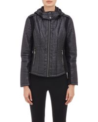 Barneys New York Quilted Hooded Jacket - Lyst