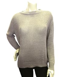 Enza Costa Linen Crew Neck Knit Top - Lyst