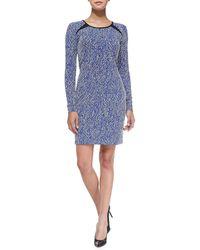 Shoshanna Brooklyn Twill Jacquard Minidress Sapphire 0 - Lyst