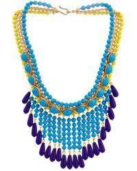 Gripoix Glass-bead Fringe Necklace - Lyst