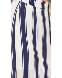 Capulet - High Waist Side Slit Skirt - Navy Stripe - Lyst