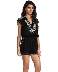 Rory Beca - Desi Embroidered Romper - Lyst