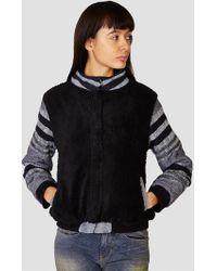 Ace & Jig - Sherpa Bomber Jacket Stripe & Black - Lyst