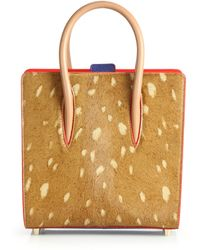 Christian Louboutin   Paloma Small Spotted Calf Hair Tote   Lyst