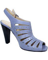 Adrienne Vittadini Gentri Leather Studded Slingback Sandals - Lyst
