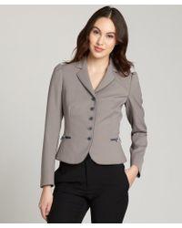 RED Valentino Light Grey Wool-Blend Long Sleeve Blazer - Lyst