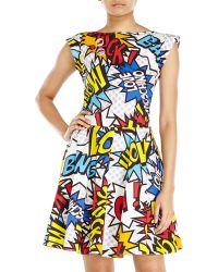 Love Moschino Comic Print Dress - Lyst