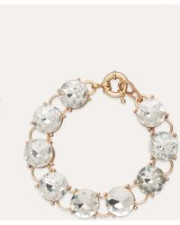 Bebe - Crystal Clasp Bracelet - Lyst