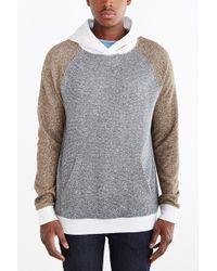 BDG - Speckled Colorblocked Pullover Hooded Sweatshirt - Lyst