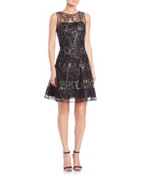 Kay Unger | Lace Fit-&-flare Dress | Lyst