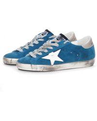 Golden Goose Deluxe Brand Sky Blue Suede Super Star Sneakers - Lyst