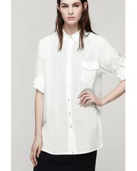 Rag & Bone Shirred Boyfriend Shirt - Lyst