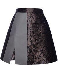 Antonio Berardi Darkest Green Mini Skirt - Lyst