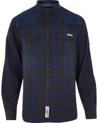 River Island Blue Tokyo Laundry Check Shirt - Lyst