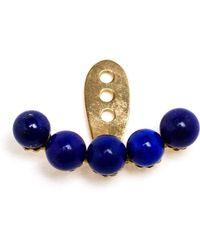 Yvonne Léon 18Kt Gold And Lapis Lazuli Lobe Earring - Lyst