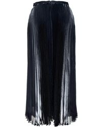 Mason by Michelle Mason Pleated Silk Midi Skirt black - Lyst