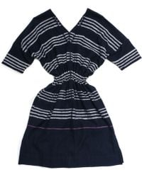 Lemlem Copy Of Rucha Gauze Patio Dress in Navy - Lyst
