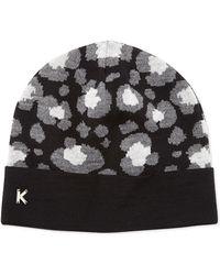 Kenzo Leopard-Print Knit Beanie - Lyst