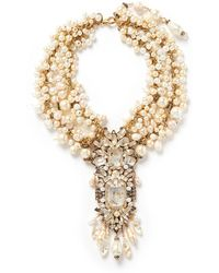 Erickson Beamon ''Pearl Jam' Faux Pearl Crystal Drop Necklace - Lyst