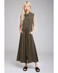 Forever 21 Maxi Utility Dress - Lyst