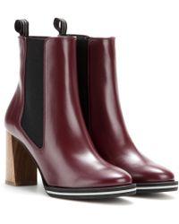 Stella McCartney Fauxleather Ankle Boots - Lyst