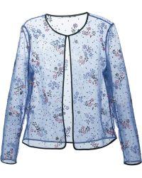 Mary Katrantzou Floral Lace Sheer Jacket - Lyst