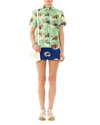 Stella Jean - Garofano Swallow-print Shorts - Lyst