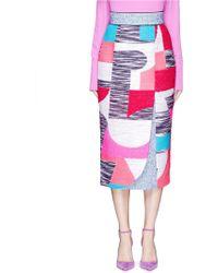 Roksanda | 'orli' Bouclé Patchwork Pencil Skirt | Lyst
