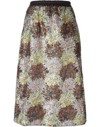 Iceberg Sequins Embroidered Flower Pattern Skirt - Lyst