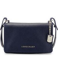 Longchamp Quadri Leather Crossbody Bag - Lyst