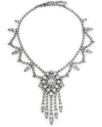 DANNIJO Britt Crystal Fringe Drop Necklace - Lyst
