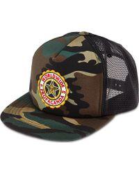 Obey Burnside Camo Trucker Hat Field Camo - Lyst