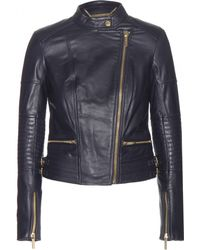 MICHAEL Michael Kors Quilted Leather Moto Jacket - Lyst