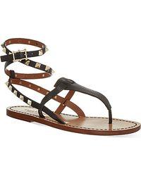 Valentino Rockstud Double Sandals - Lyst