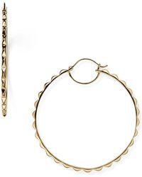 Melinda Maria - Pyramid Hoop Earrings - Lyst