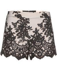 Alice + Olivia Highwaisted Lace Shorts - Lyst