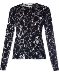 Balenciaga Black Marble-Print Sweater - Lyst