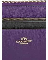 COACH - Swingpack Violet Leather Cross-Body Bag - Lyst