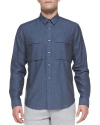 Theory Spencer Cotton-flannel Shirt - Lyst