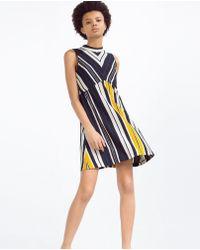 Zara   A-line Striped Dress   Lyst
