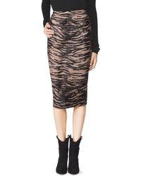 Tamara Mellon Tiger Print Calf Pencil Skirt - Lyst