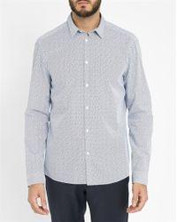 Calvin Klein | White Modular Print Shirt | Lyst