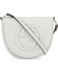 Gucci Large Logo Leather Cross Body - Lyst