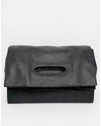 Monki - Arja Fold Over Shopper/Clutch Bag - Lyst