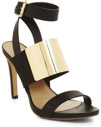 BCBGMAXAZRIA High-Heel Open-Toe Strappy Sandal - Lyst