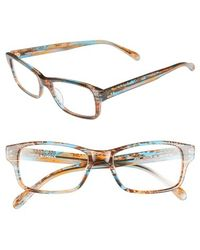 Corinne Mccormack - 'jess' 52mm Reading Glasses - Turquoise Olive - Lyst