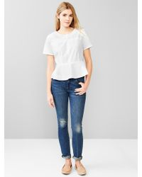 Gap Peplum Top - Lyst